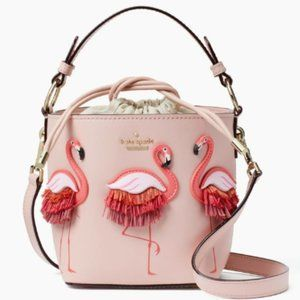 Kate Spade Pippa Flamingo by the Pool Bucket Bag
